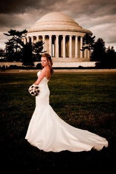 The Jefferson Memorial - a great place for wedding photos