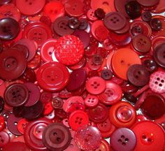 100 Assorted Red and Dark Red Buttons - bulk buttons in mixed sizes. $6.00, via Etsy.