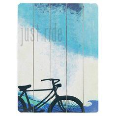 Just Ride Beach Wall Art