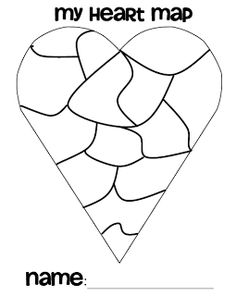 Heart Map Writing On Pinterest