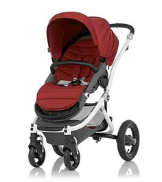 Affinity Stroller by Britax - White base frame with Red Pepper color pack - Britax USA