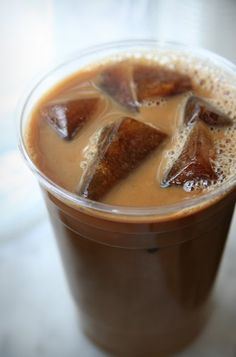 iced coffee-ice cubes. no more watery coffee drinks.