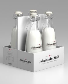 Tine Melk - Mountain Milk by Anders Drage, via Behance