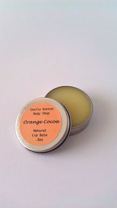 #Organic Orange #Beeswax & Cocoa Butter Lip Balm