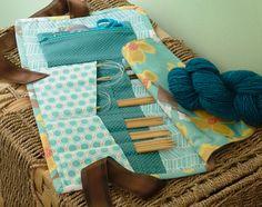 Dogwood Blossom Knitting Needle Case / Pattern from Everyday Handmade