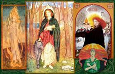 Brighid is the Irish goddess of fire, fertility, and the spring.  You can use a bedsheet to make an ancient style Celtic dress, which was very similar to the ancient Greek chiton.