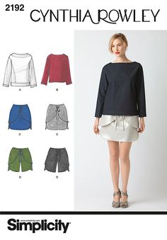 2192 Misses' Sportswear. Cynthia Rowley Collection  Misses' top in two lengths, mini skirt and shorts, Cynthia Rowley Collection.