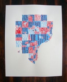 Metro Detroit Map....have this in my apartment