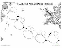 Worksheets: Arranging Numbers: Bees