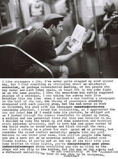 stranger on the subway