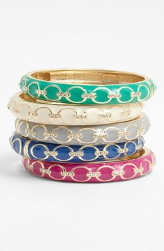 sparkly colorful bangles