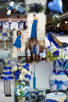 Dark-blue-theme spring wedding