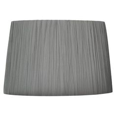 Crinckle Pleat Lamp Shade - Grey (Large).Opens in a new window