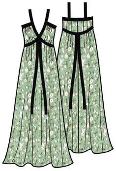 Free sewing Pattern for knit fabric summer dress sundress Russian
