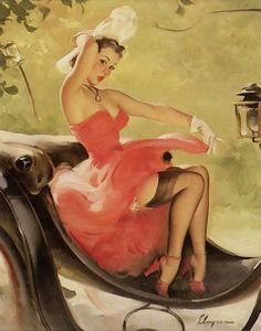 Up in Central Park. Gil Elvgren, 1950's