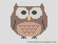 Free Printable Cross Stitch Patterns | Craft Novice: Free Cross Stitch Owl Pattern