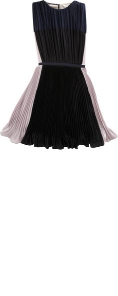 O'2nd Pleated Colorblocked Dress
