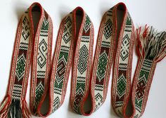 Latvian tablet woven band from the book  Latvian sashes, belts and bands. Marijke van Epen