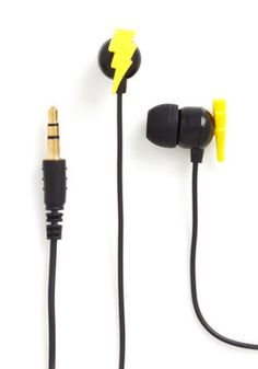 Bolt to the Beat Earbuds, #ModCloth