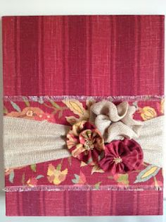 Burlap and Fabric Wall Hanging