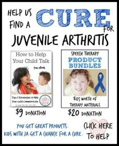 An Incredible SLP Blogger Searching For a Cure for JA and Your Chance to Give Back | Consonantly Speaking