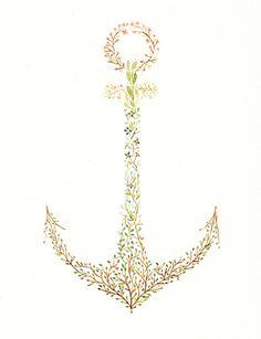 #color #flower #anchor #tattoo #idea
