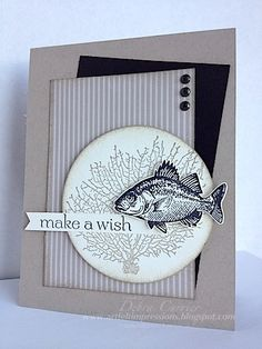 """By the Tide in neutrals - love it! Deb also used Sweet Essentials, Neutrals dsp, and 3"""" Circle die."""