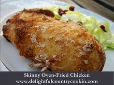 skinny oven-fried chicken via delightful country cookin  #GreekYogurt #organic