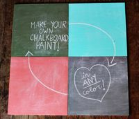 Make your own chalkboard paint with acrylic paint