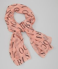 Another great find on #zulily! Peachy Pink 'Europe' Scarf #zulilyfinds
