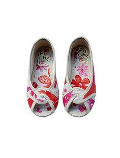 Floral Toddler Peep Toe flats