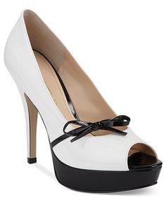 White-hot! Enzo Angiolini #shoes #pumps #peeptoe BUY NOW!
