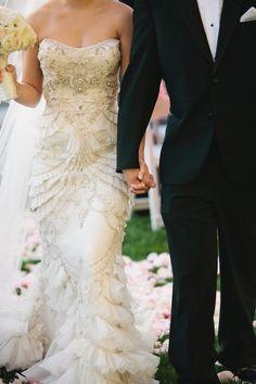 Detailed Lazaro Gown | photography by http://www.sarahkchen.com/