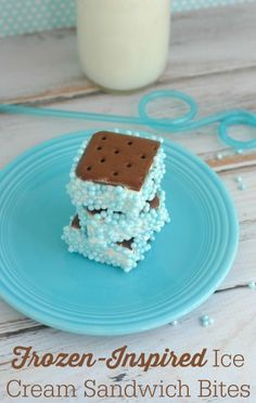 Frozen-Inspired Ice Cream Sandwiches