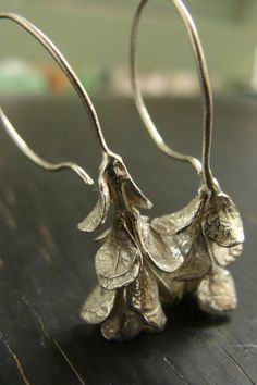 succulent drop earrings, by Amber Mahler. Cool.