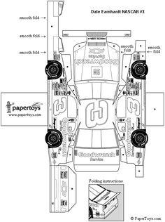 Paper Nascar Car  a while-you-wait activity for Pinewood Derby