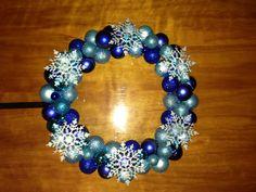 My new snowflake wreath