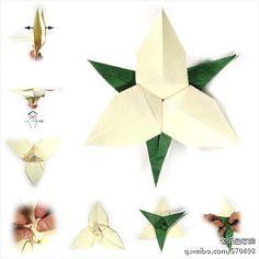 Flor Trillium origami tutorial