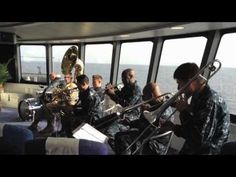 """Video clip depicting U.S. Navy band """"Topside"""" playing aboard High Speed Vessel Swift (HSV 2) on their way to Africa Partnership Station. - MilitaryAvenue.com"""