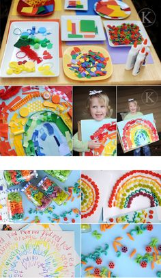 #Rainbow Art activities for preschoolers. Rainbow crafts for #children.