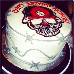 Metal Mulisha Skull Birthday Cake