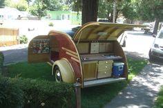 Our teardrop trailer, built by my husband, Dave McCready.