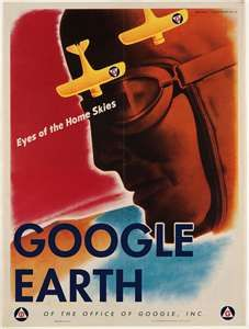 vintage posters, social media marketing, retro styles, googl earth, cover pages