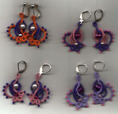 Unusual and pretty. bracelets, art, fashion crochet, irises, gifts, crochet jewelri, jewelry rings, tat earring, earrings