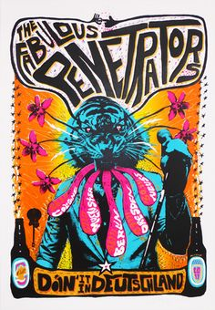 The Fabulous Penetrators | Adam Pobiak #gig #poster #design