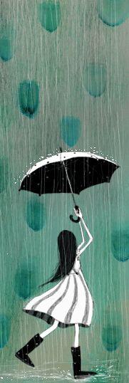 <3 planets, illustrations, green, colors, raindrop inspiration, teal, illustr rain, umbrella art, blues