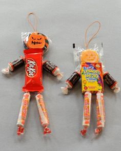 Craft time! Halloween Candy People are cute and easy to make for the spooky ones in your life.