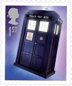 TARDIS Royal Mail Stamp.