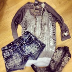LOVE this outfit!!!!  Wanna rock the boots with these cute shorts!!