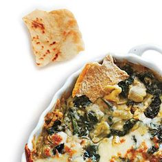 Perfect for Super Bowl Sunday: Artichoke, Spinach, and White Bean Dip | CookingLight.com